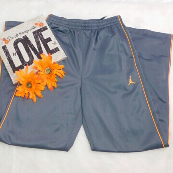 25b0ac63953 Nike Bottoms | Drifit Sweatpants Gray And Orange Xl Boys | Poshmark